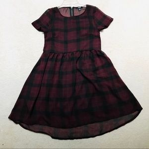 MAROON SHEER DRESS